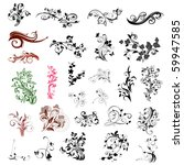 set of abstract floral patterns | Shutterstock .eps vector #59947585