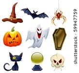 vector collection of halloween... | Shutterstock .eps vector #59947759