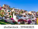 beautiful mediterranean... | Shutterstock . vector #599483825