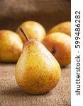 pears. pears harvest. fruit... | Shutterstock . vector #599486282