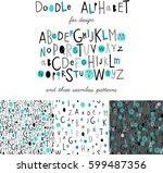 cute kids alphabet design and...