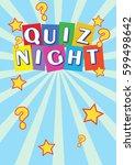 quiz night poster leaflet | Shutterstock .eps vector #599498642
