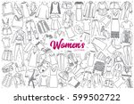 hand drawn women's clothing... | Shutterstock .eps vector #599502722