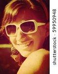 young girl portrait. retro...   Shutterstock . vector #59950948