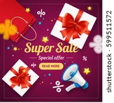 super sale banner card or... | Shutterstock .eps vector #599511572