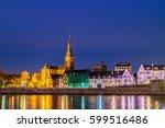 evening view of the dutch... | Shutterstock . vector #599516486