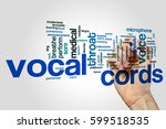 vocal cords word cloud concept | Shutterstock . vector #599518535