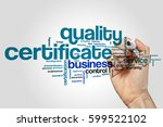 quality certificate word cloud... | Shutterstock . vector #599522102