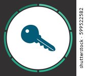 key icon vector. flat simple... | Shutterstock .eps vector #599522582