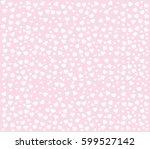 heart pattern on pink background   Shutterstock .eps vector #599527142