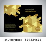 modern brochure design with... | Shutterstock .eps vector #599534696