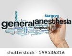 general anesthesia word cloud... | Shutterstock . vector #599536316