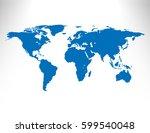 world map | Shutterstock .eps vector #599540048