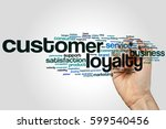customer loyalty word cloud... | Shutterstock . vector #599540456