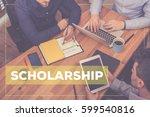 scholarship concept | Shutterstock . vector #599540816