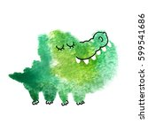 crocodile made with abstract... | Shutterstock . vector #599541686