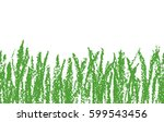 wax crayon hand drawn green... | Shutterstock .eps vector #599543456