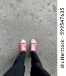 feet from above concept ... | Shutterstock . vector #599547635