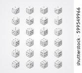 white dice vector set | Shutterstock .eps vector #599549966