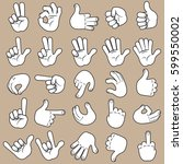 sketch hands icon. collection... | Shutterstock .eps vector #599550002
