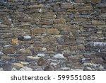ancient old dark regular stone...   Shutterstock . vector #599551085
