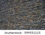 ancient old dark regular stone...   Shutterstock . vector #599551115