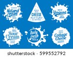 vector milk product logo. milk  ... | Shutterstock .eps vector #599552792