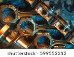 pistons. garage auto repair... | Shutterstock . vector #599553212