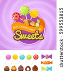 colorful poster template with... | Shutterstock .eps vector #599553815