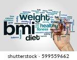 bmi word cloud concept | Shutterstock . vector #599559662