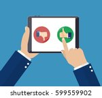 rating on customer service... | Shutterstock .eps vector #599559902