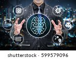 machine learning and artificial ... | Shutterstock . vector #599579096
