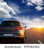car and light on the road. | Shutterstock . vector #599582402