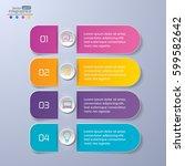 modern paper infographics... | Shutterstock .eps vector #599582642