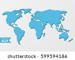 3d world map isolated on a... | Shutterstock .eps vector #599594186