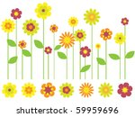 bright flower border and... | Shutterstock .eps vector #59959696