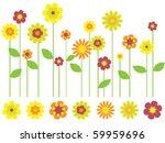 bright flower border and... | Shutterstock .eps vector #59959696