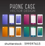 set of covers and backgrounds... | Shutterstock .eps vector #599597615