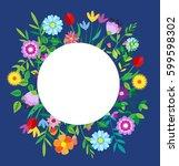 spring template. spring... | Shutterstock .eps vector #599598302