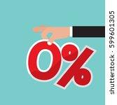 zero percent interest vector... | Shutterstock .eps vector #599601305