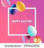 an easter border design with... | Shutterstock .eps vector #599603396