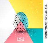 a easter egg abstract design.... | Shutterstock .eps vector #599603516