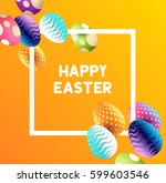 an easter border design with... | Shutterstock .eps vector #599603546