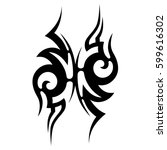 tribal designs. tribal tattoos. ... | Shutterstock .eps vector #599616302