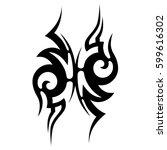 tattoo tribal vector designs... | Shutterstock .eps vector #599616302