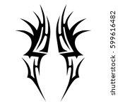 vector tribal tattoo designs.... | Shutterstock .eps vector #599616482