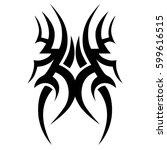 tattoo tribal vector designs... | Shutterstock .eps vector #599616515