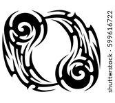 vector tribal tattoo designs.... | Shutterstock .eps vector #599616722
