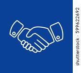 handshake icon vector. | Shutterstock .eps vector #599622692