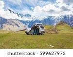 group of trevelers on a...   Shutterstock . vector #599627972